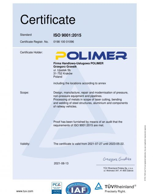 ISO 9001 Quality Management Systems Certification